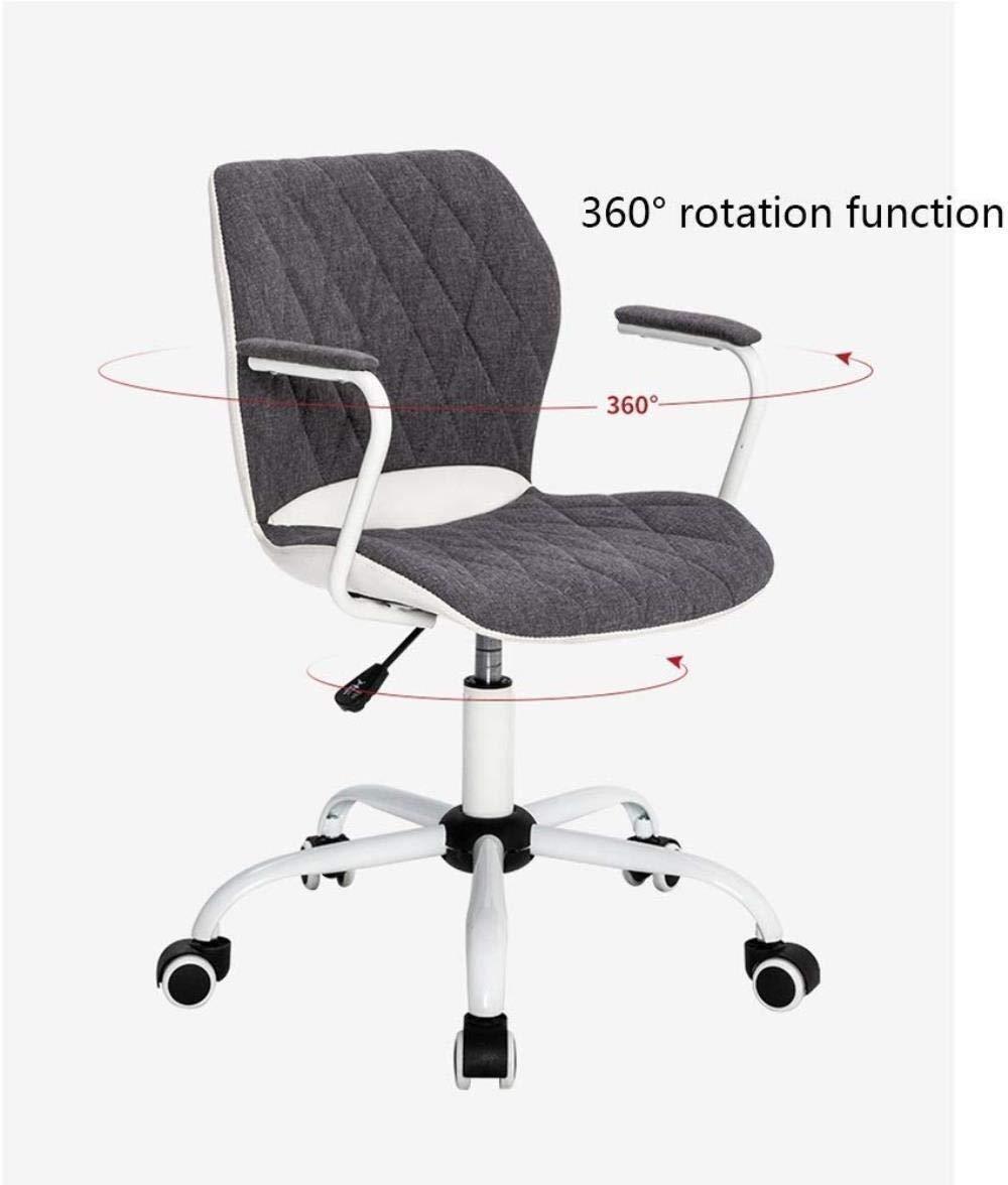 Barstolar Xiuyun kontorsstol spelstol dator svängbar stol, äggskal ryggstöd höjd justerbar svängbar stol för kontor arbetsrum skrivbord lounge stol svängbar stol (färg: Lila) Grått