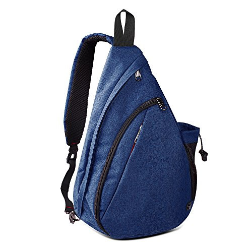 Reversible Nylon Sweater Jacket - OutdoorMaster Sling Bag - Small Crossbody Backpack for Men & Women (Dark Blue)