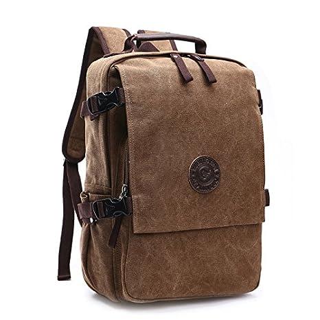 43165e8f04 Loietnt zaino, borsa zaino da viaggio in tela casual, zaino vintage zaino da  campeggio