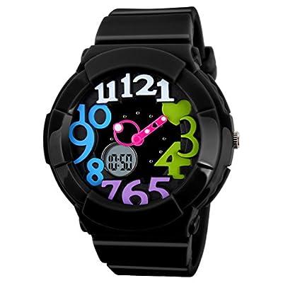 VIGOROSO Women's Girl Fashion Digital Analog Date Silicone Jelly Waterproof Sport Watch