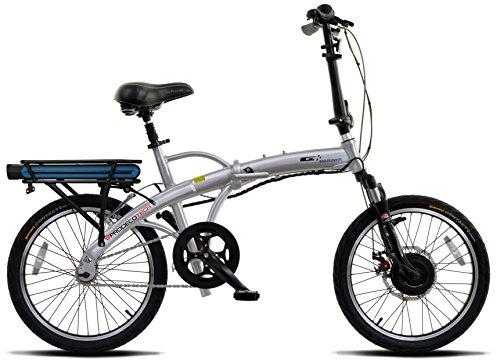 ProdecoTech Mariner v5F 36V300W 1 Speed Electric Bicycle 10Ah Samsung Li Ion, Brushed Aluminum, 17 / One Size