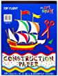 Top Flight Construction Paper Tablet, Book of Colors, 9 x 12 Inches, 48 Sheets, Polywrapped (61301)