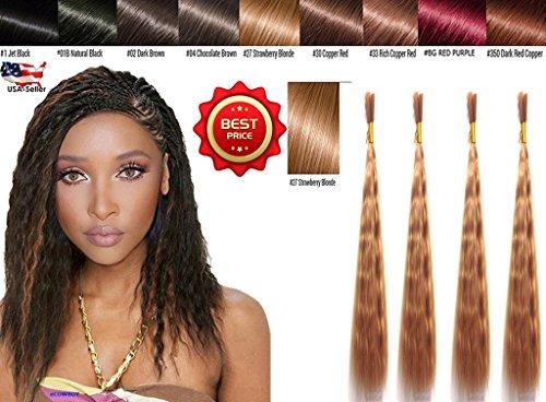 (Wet N Wavy Bulk hair QUALITY HAIR Micro Braiding Super Bulk Style 2 Packs (4 Bundles) DEAL Length (18