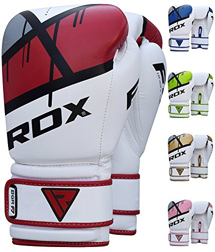 RDX Ego Boxing Gloves Muay Thai Training Professional Maya Hide Leather Sparring Punching Bag Mitts Kickboxing Fighting