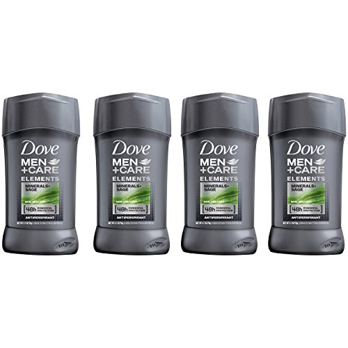 Dove Men+Care Elements Antiperspirant Stick, Minerals + Sage 2.7 oz, 4 Count