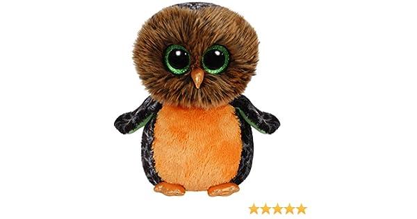 Carletto Ty 37030 - Medianoche - búho, Grande 24cm, con Ojos Brillo de Glubschi Beanie Boo, limita Halloween, Naranja / marrón: Amazon.es: Juguetes y juegos
