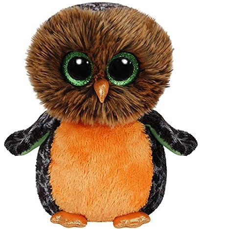 3c64463590d Amazon.com  Ty Beanie Boos Buddy - Midnight The Owl 24cm  Toys   Games