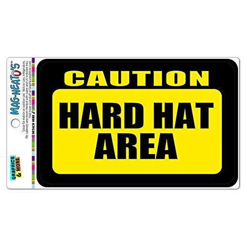 Caution Hard Hat Area MAG-NEATO'S(TM) Automotive Car Refrigerator Locker Vinyl Magnet