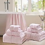 Kyпить LOVO Cotton 6-Piece Towel Set Pink на Amazon.com