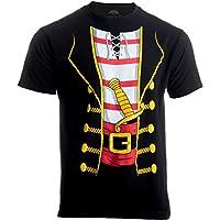 Pirata buccanneer | Jumbo Print Novelty Disfraz de Halloween Camiseta unisex para adulto, 2XL Negro