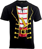 : Pirate Buccanneer | Jumbo Print Novelty Halloween Costume Unisex T-shirt-Adult,L