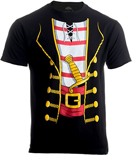 (Pirate Buccanneer | Jumbo Print Novelty Halloween Costume Unisex T-shirt-Adult,L Black)