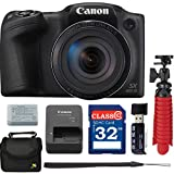 Canon PowerShot SX420 HS Digital Camera with Free Accessory Bundle including 32 GB SD Memory Card + USB Card Reader + Spider Tripod + Camera Case - International Version