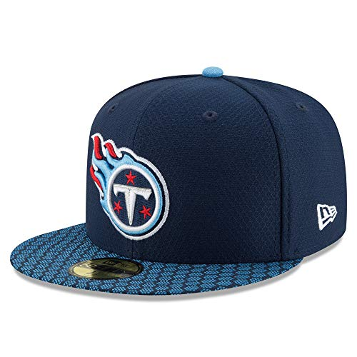 New Era Tennessee Titans 59Fifty Sideline Official Fitted Hat (Size 7) (Tennessee Titans Fitted Hat)