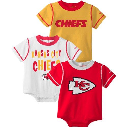 Reebok Kansas City Chiefs Infant 3 Pc. Creeper Set Infant 18 Months (Infants Reebok Nfl Creeper)