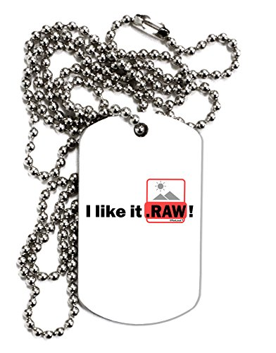 TooLoud I Like It RAW Adult Dog Tag Chain Necklace - 1 Piece