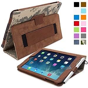 iPad Mini & Mini 2 Case, Snugg™ - Smart Cover with Flip Stand & Lifetime Guarantee (Digital Camo Leather) for Apple iPad Mini & Mini 2 with Retina