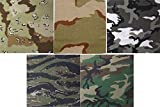 5 Pack - Camouflage Military Jumbo Cotton Bandanas 27'' x 27''