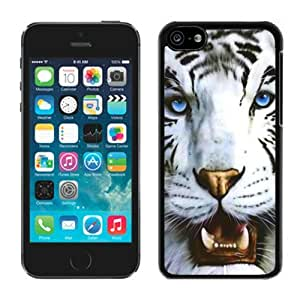 White Tiger and Blue Eyes Iphone 5c Case Black Cover