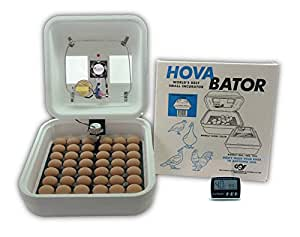 HovaBator Advanced Egg Incubator Combo Kit: includes incubator, fan kit, egg turner, digital thermometer/hygrometer