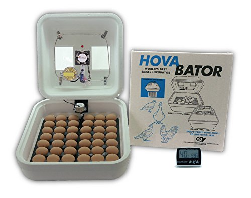 HovaBator Advanced Egg Incubator Combo Kit: includes incubator, fan kit, egg turner, digital thermometer/hygrometer