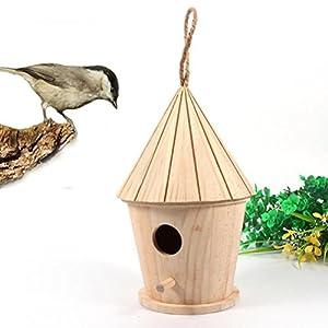 GreatFun 1pc Lovely Wooden Bird House Nest Box Nest House Bird Box