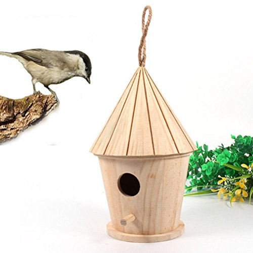 GreatFun 1pc Lovely Wooden Bird House Nest Box Nest House Bird - Ads Sunglasses