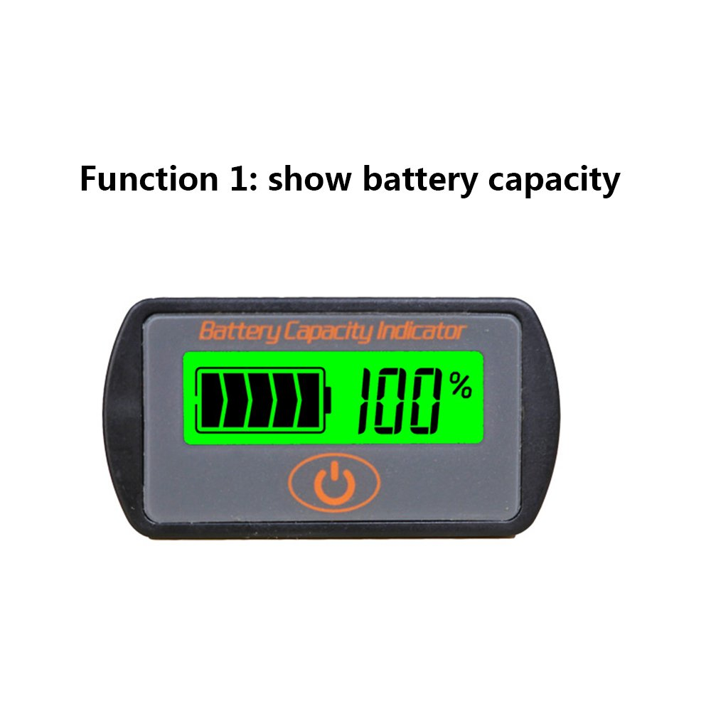 CPTDCL Touch Control Button Multifunction 12V Lead Acid Battery Capacity Indicator Voltage Tester LCD Battery Power Meter Voltmeter