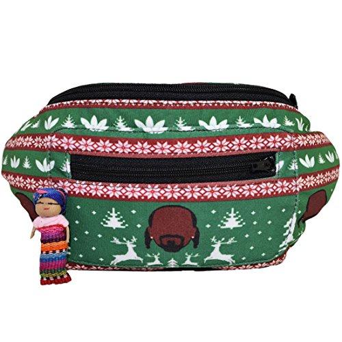 Santa Playa Ugly Sweater Fanny Pack, Christmas Holiday Boho Chic Handmade w/Hidden Pocket by (A 420 - Ugly Shades