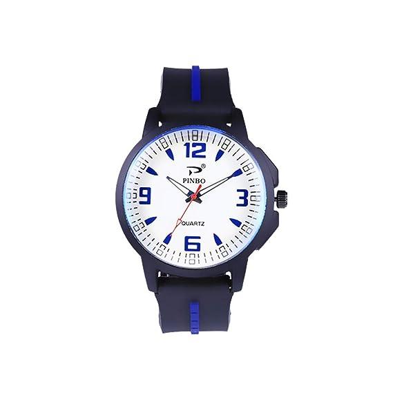 DAYLIN Reloj Deportivo Hombre Niño Relojes Juveniles para Chico Reloj Pulsera de Cuarzo Silicona Sport Wrist Watch Men: Amazon.es: Relojes