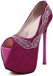 GGX/ Chaussures Femme-Habillé / Soirée & Evénement-Noir / Rouge-Talon Aiguille-Bout Ouvert / Confort-Chaussures à Talons-Polyuréthane black-us5 / eu35 / uk3 / cn34 MNJMK