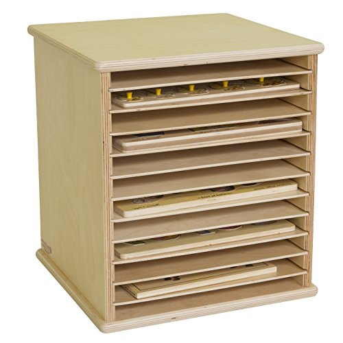 "Wood Designs WD33200 Tabletop Puzzle Rack, 16 x 15 x 14"" (H x W x D)"