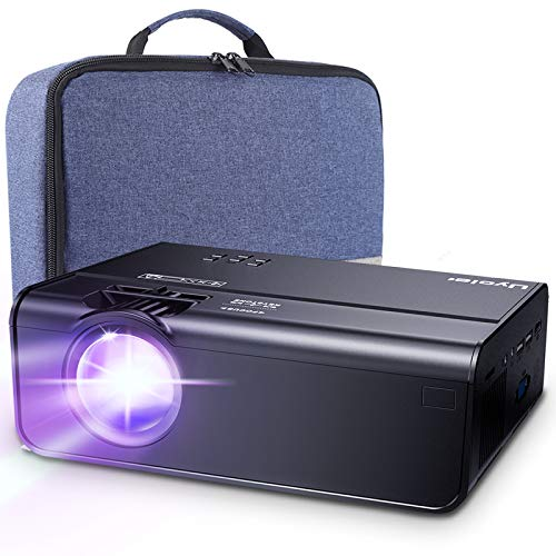 Mini Projector, Uyole Portable Projector for Outdoor Movies, 4500L Outdoor Movie Projector, Support 1080P and 200'' Display, 45,000Hrs, Compatible with TV Stick, PS4, HDMI, TF, AV, USB, iPhone, Laptop