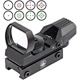 Vokul® Tactical 4 Reticle Red Dot Open Reflex Sight with Weaver-Picatinny Rail Mount for 22 mm Rails