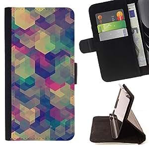 Momo Phone Case / Flip Funda de Cuero Case Cover - Teal Beige Modelo púrpura calma - Sony Xperia Z5 5.2 Inch (Not for Z5 Premium 5.5 Inch)