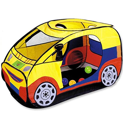 Artiron Kids Car Playhouse, Pop Up Foldable Waterproof Kids Play Tent Vehicle Castle Great Gift Toys for Toddlers Infant Boys Girls Outdoor and Indoor Activities ( Yellow (Activity Playhouse)