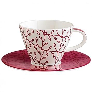Villeroy Boch Caffè Club Flower Berry Tasse Kaffee Mit Teller 2