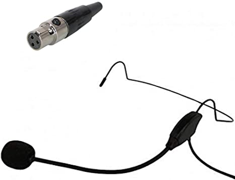 Micrófono Diadema Audiofit AFM ERGO 2 Mini XLR 3 pines compatible AKG® para actividades deportivas o fitness con antiviento. Se envía desde España en 24h. (Negro): Amazon.es: Instrumentos musicales