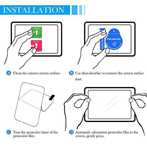 AFUNTA Screen Protector for Sony DSLR Alpha Nex-7 NEX-6 NEX-5 A6000 A6300 A5000 Camera, Anti-scrach Tempered Glass 9H Cover(2 Pack)