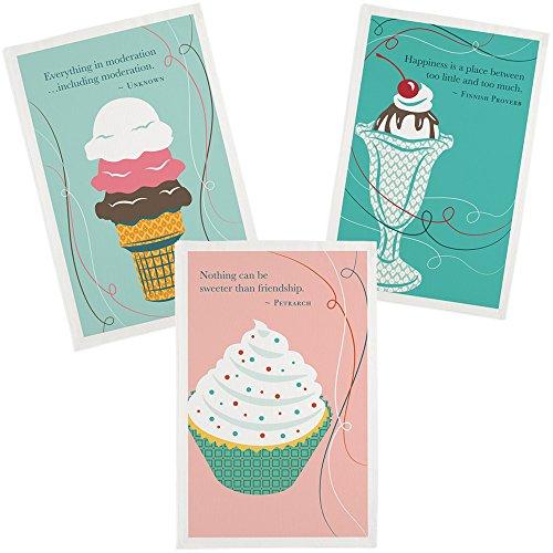 Cupcake Kitchen Towel, Ice Cream Cone Kitchen Towel & Sundae Kitchen Towel – Set of 3 Dessert Designs 51sBJ7odb2L