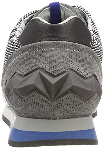 Floris van Bommel Men's 16223 Trainers, Grau (d Grey Suede Combi), 7 UK Black (Black 04)