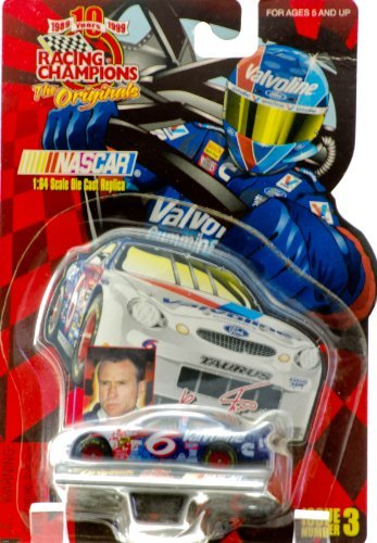 1999 - Racing Champions / The Originals - NASCAR - Issue #3 - Mark Martin - #6 Valvoline / Ford Taurus - Colelctor Card & Display Stand - 1:64 Scale Die Cast - New - Out of Production - Limited Edition - Rare - Collectible