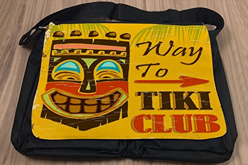 Borsa Tracolla Avventuriero Tiki Club Stampato