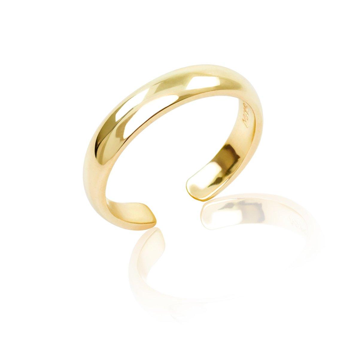 14K Yellow Gold Band Toe Ring (3mm)