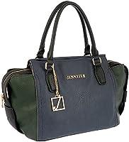 Jennyfer Bolsa Bolso Para Dama Color Azul con Verde 8251-2