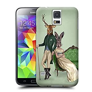 Unique Phone Case Mr Deer and Mrs Rabbit Poster Hard Cover for samsung galaxy s5 cases-buythecase