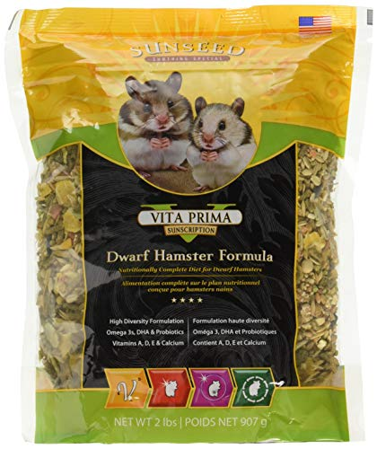 (Sunseed Vita Prima Sunscription Dwarf Hamster Formula 6 Pound Total (3 Packages With 2 Pound Each))