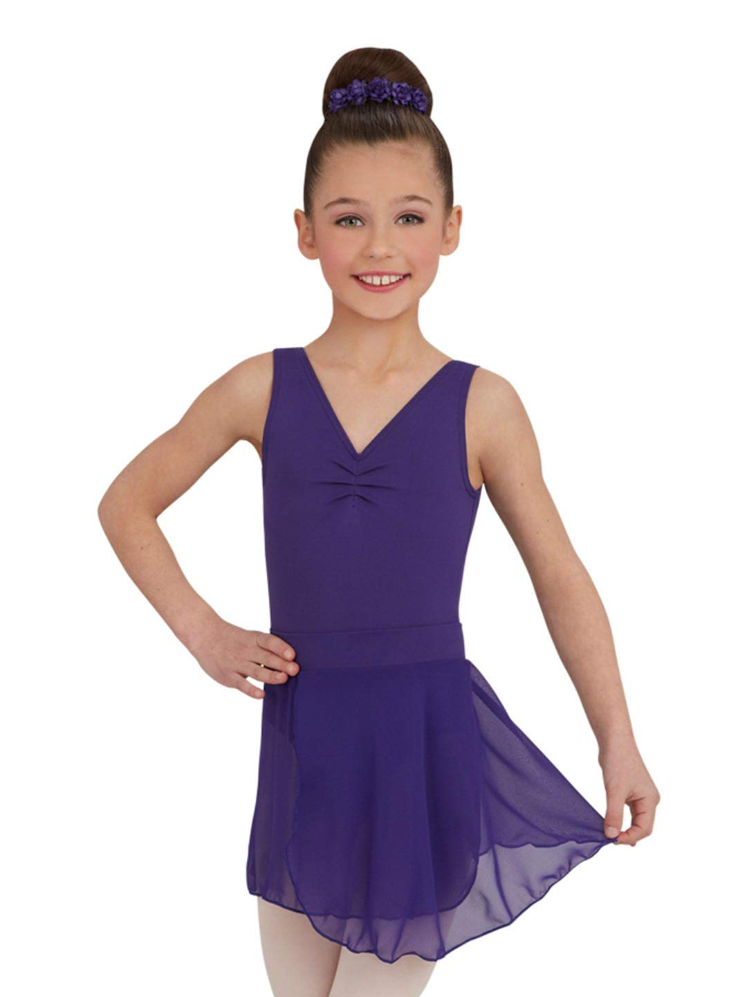 Capezio Youth Tactel Pull-On Skirt, Deep Purple-LG 12/14
