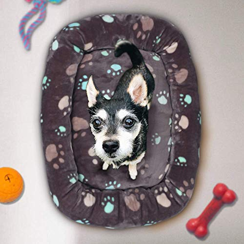 Allisandro Dog Bed | Anti-Slip Soft Pet Crate Kennel Pad - Washable Dog Mattress Pet Bed for Dogs & Cats, Grey L:33.4x22.8x4.7 by Allisandro (Image #6)