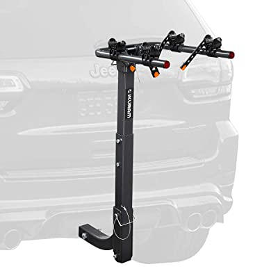 """IKURAM 2 Bike Rack Bicycle Carrier Racks Hitch Mount Double Foldable Rack for Cars, Trucks, SUV's and minivans with a 2"""" Hitch Receiver : Sports & Outdoors"""